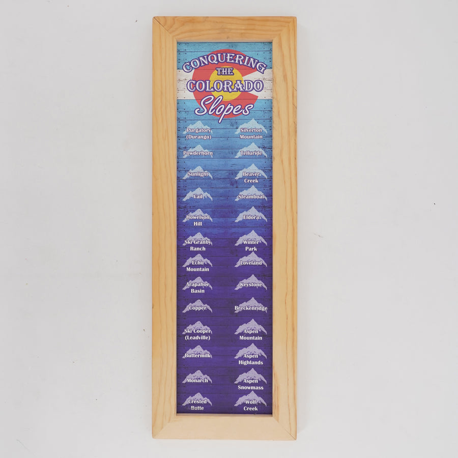 Colorado Ski Mountains Ski Magnet Board & Magnets
