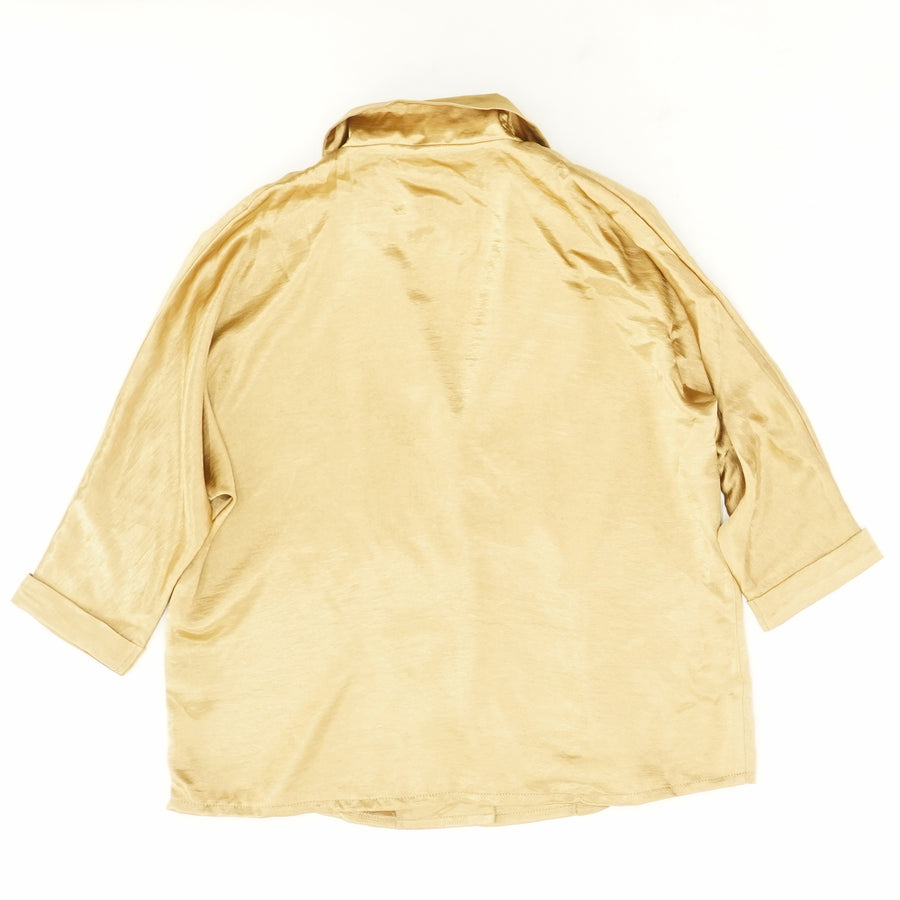 Satin Button Down Shirt - Size 4