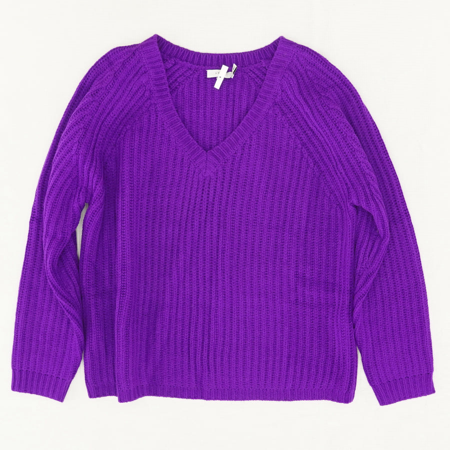 V-Neck Knit Sweater - Size M