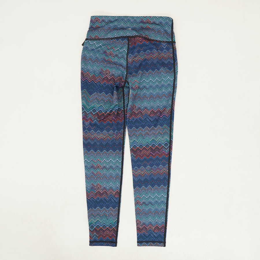 Chevron Multi Color Leggings - Size XS