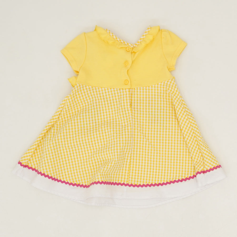 Checked Seersucker Dress Size 18M