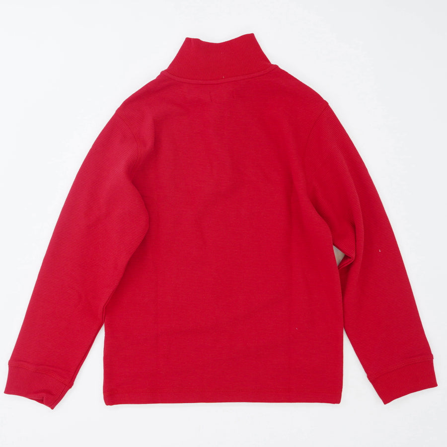 Chaps Red Quarter Zip Pullover - Size 5,10/12