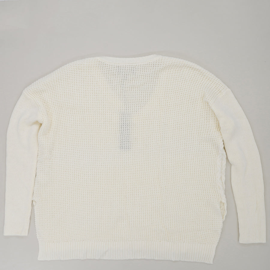 Alpine Cableknit Long Sweater Size L