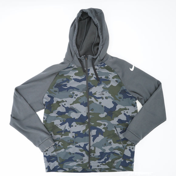 Dri-Fit Camo Zip Up Hoodie Size L