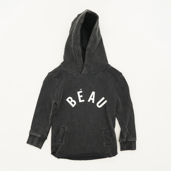 """BEAU"" Distressed Hem Hooded Pullover Size 6-12M"