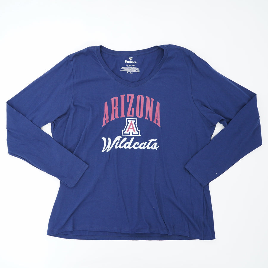 Arizona Wildcats Long Sleeve Tee Size 4XL