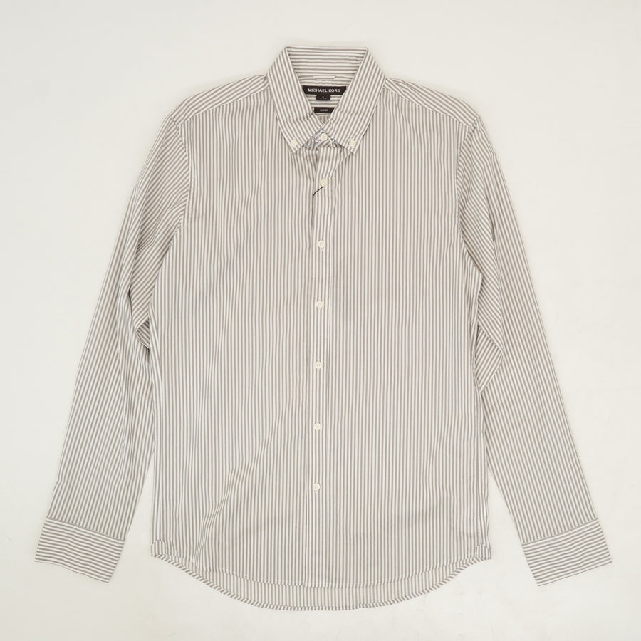 Striped Slim Fit Button Down - Size S