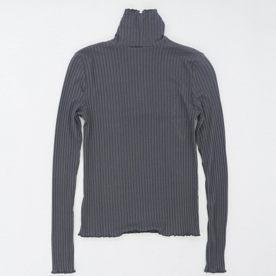 Ribbed Turtleneck- Gray Size XS, S