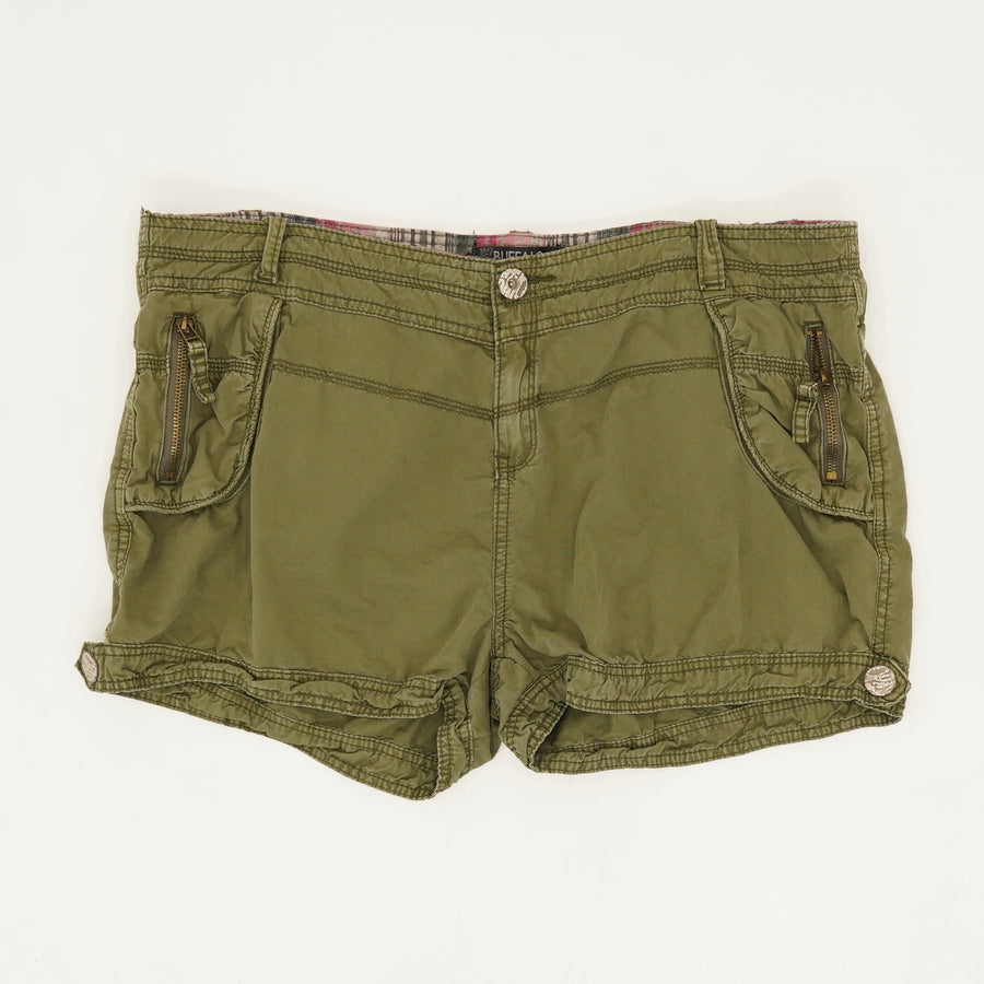 Green Zip Pocket Shorts - Size 32
