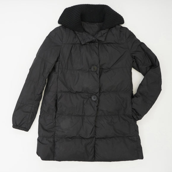 Sport Down Puffer Coat with Wool/Cashmere Collar Size 38