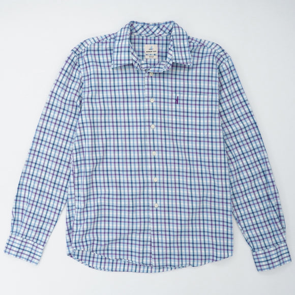 Checked Flannel Button Down Shirt Size M