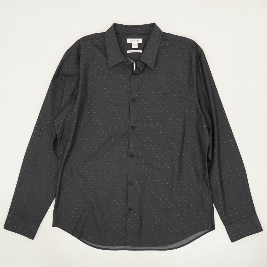 Black Patterned Dress Shirt - Size XL