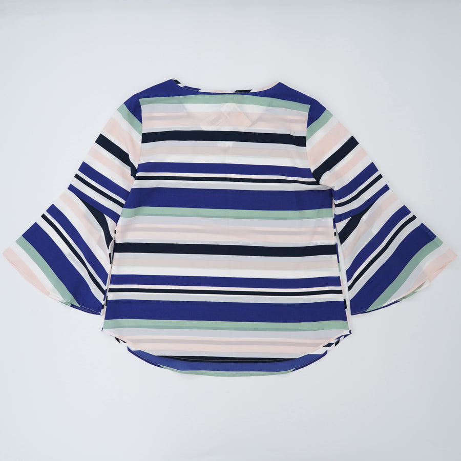 Striped Bell Sleeve Blouse Size S/P