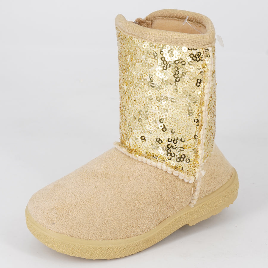 Toddler Sequin Boots Size 6