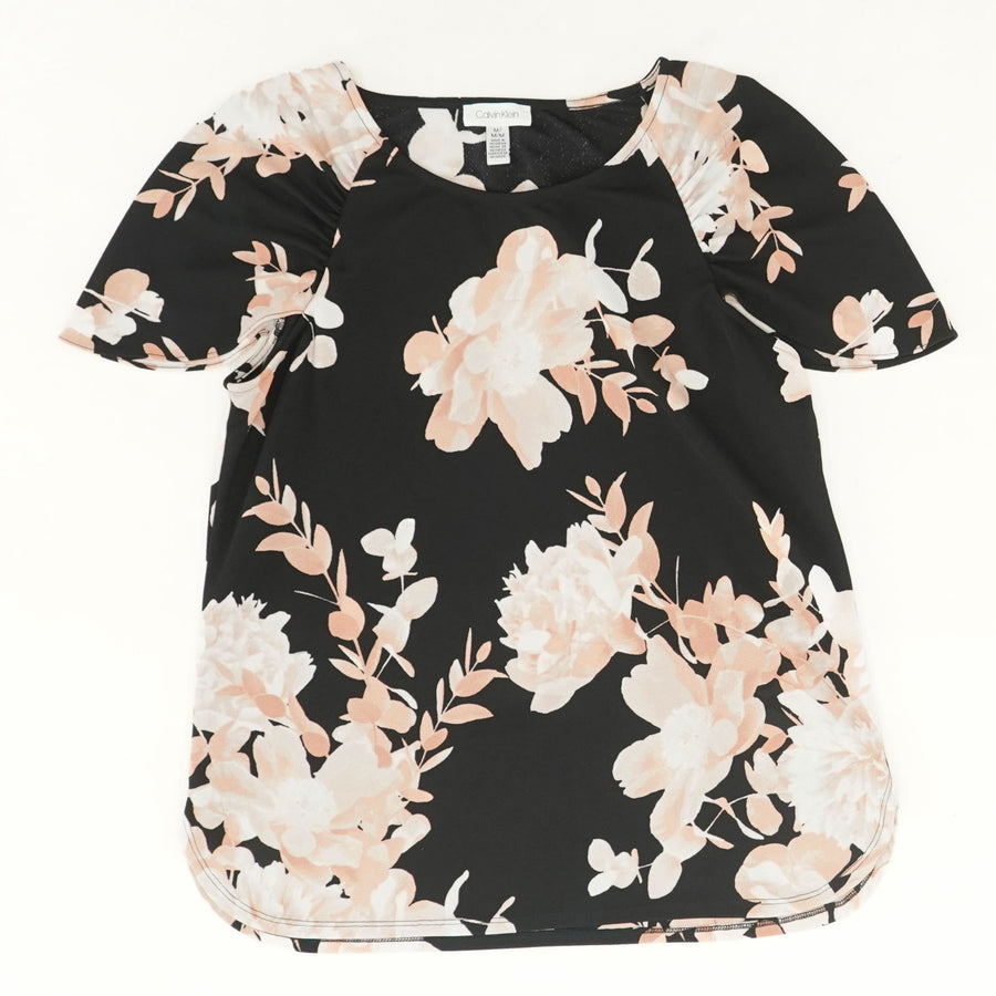 Tiered-Sleeve Floral Top - Size M