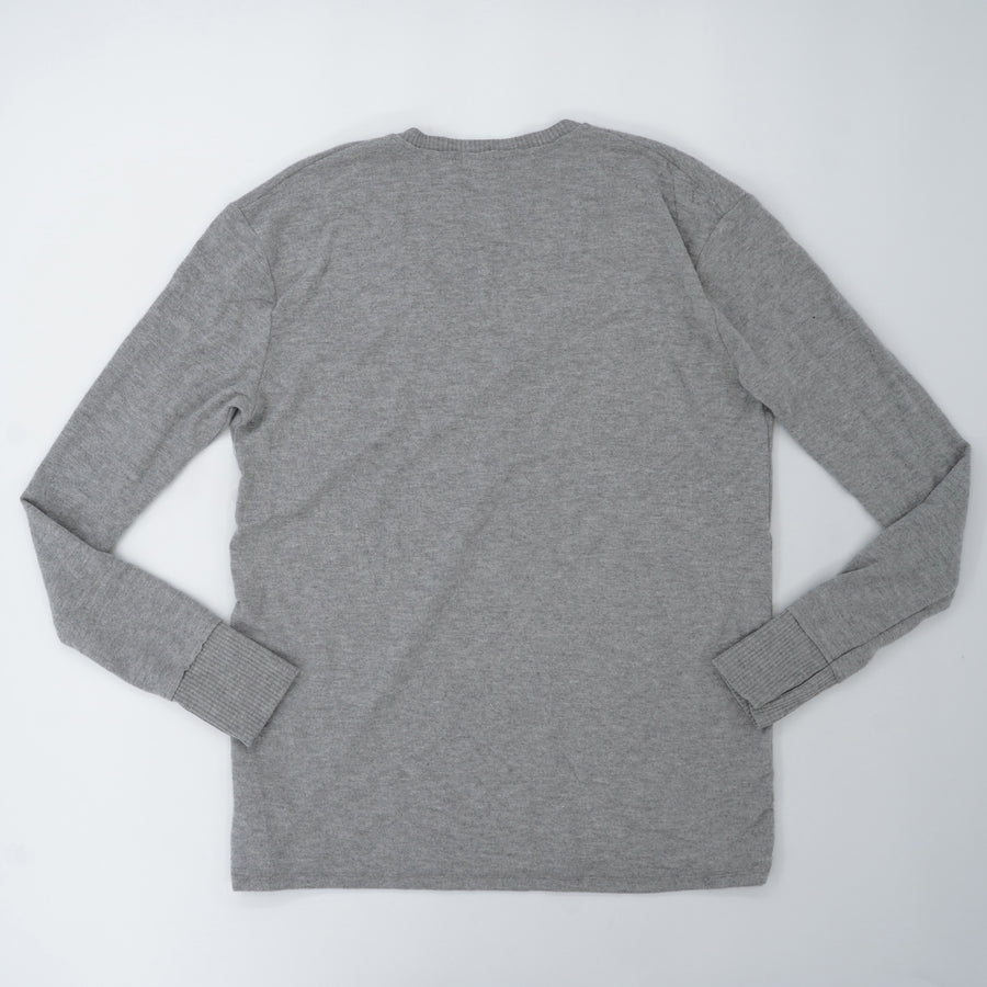 Gray Ribbed Cuff Sweater Size S