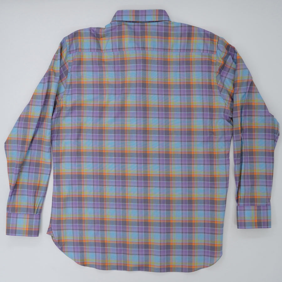 Newport Sport Shirt Orchid Plaid Size XL