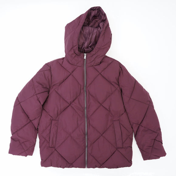 Wine Puffer Full Zip Jacket Size 6