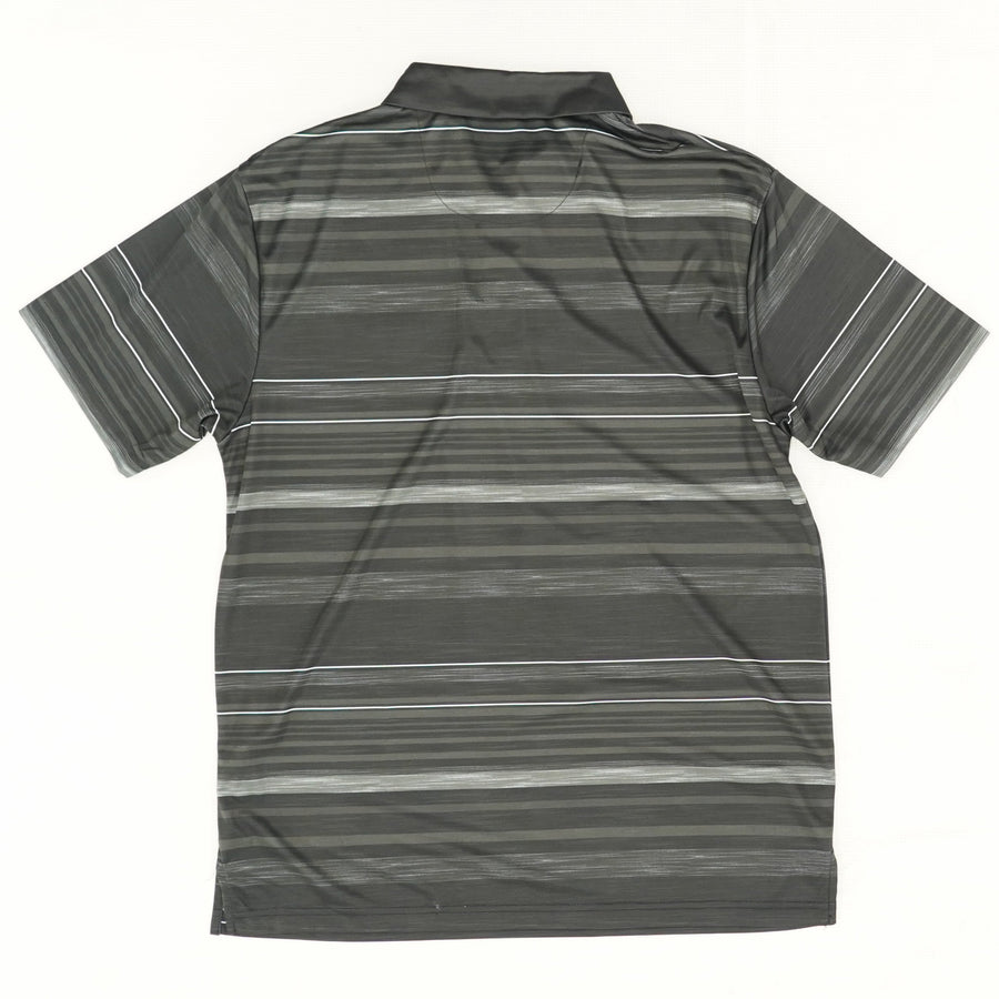 Striped Performance Polo Size M