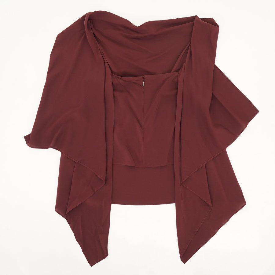 Fall Away Crepe De Chine Blouse - Size 42, 44