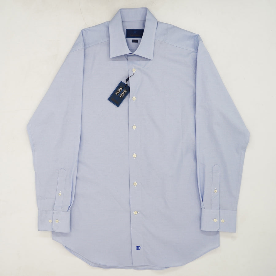 Blue Slim Fit Button Up Dress Shirt Size 32/33