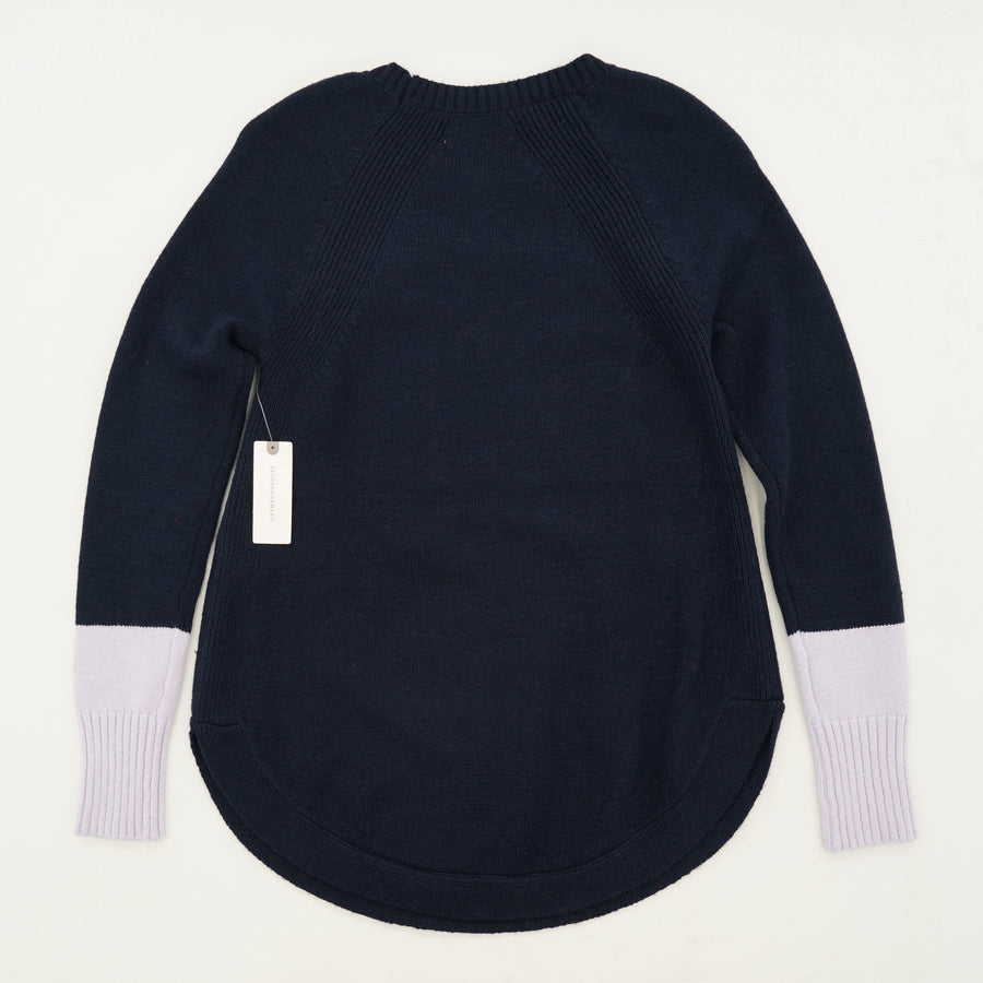 Navy And Lavender Two Toned Sweater Size XXS