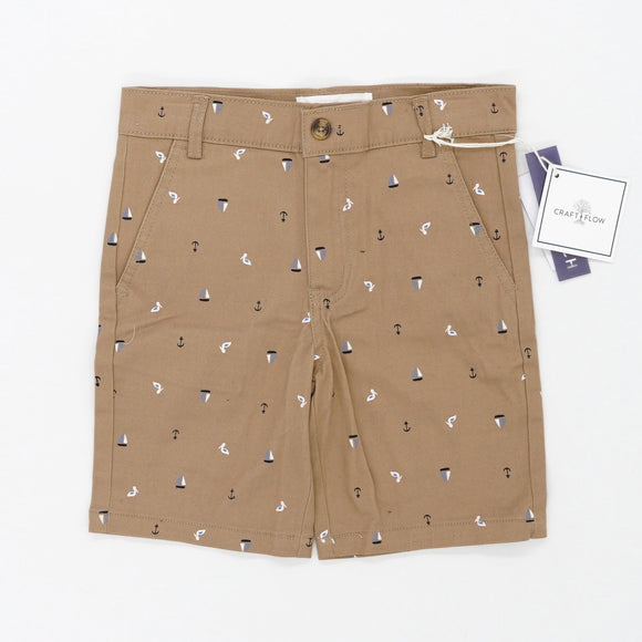 Brown Shorts With Sailboats Size 5