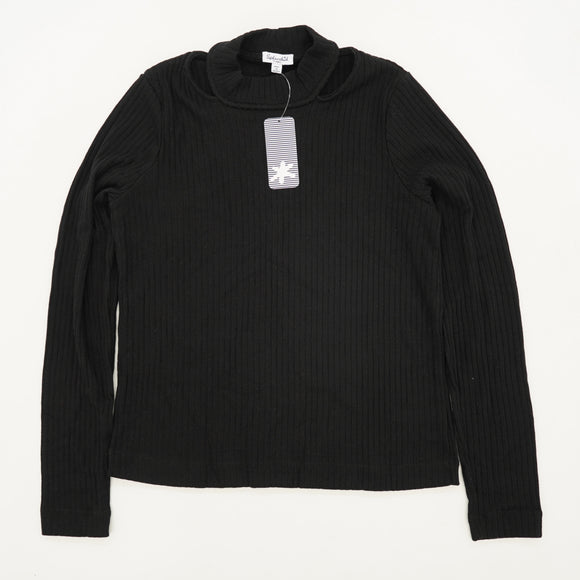 Black Ribbed Sweater Size XS