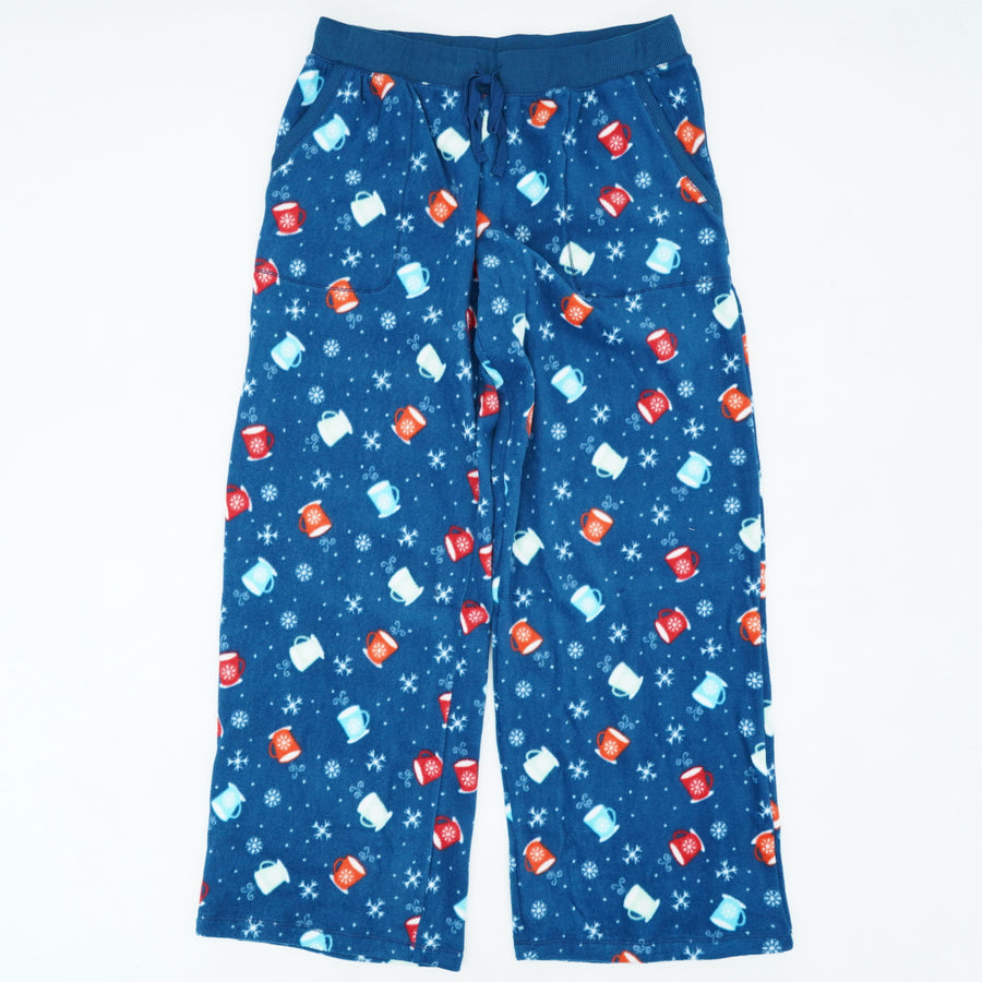 Printed Plush Fleece PJ Bottoms Size S