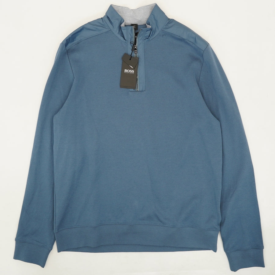 Muted Blue 1/4-Zip Pullover - Size XL