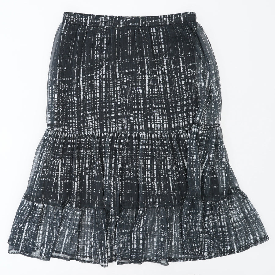 Abstract Tiered Skirt