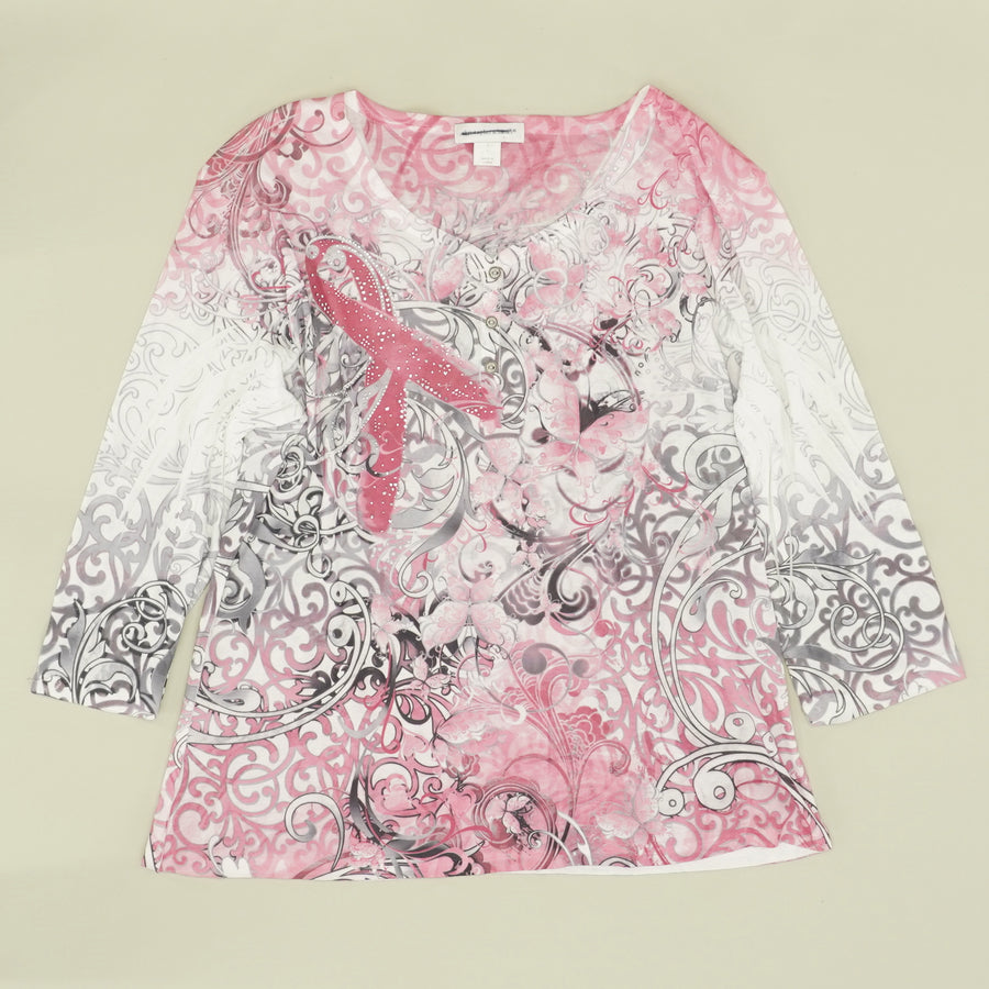 Breast Cancer Awareness Blouse Size L