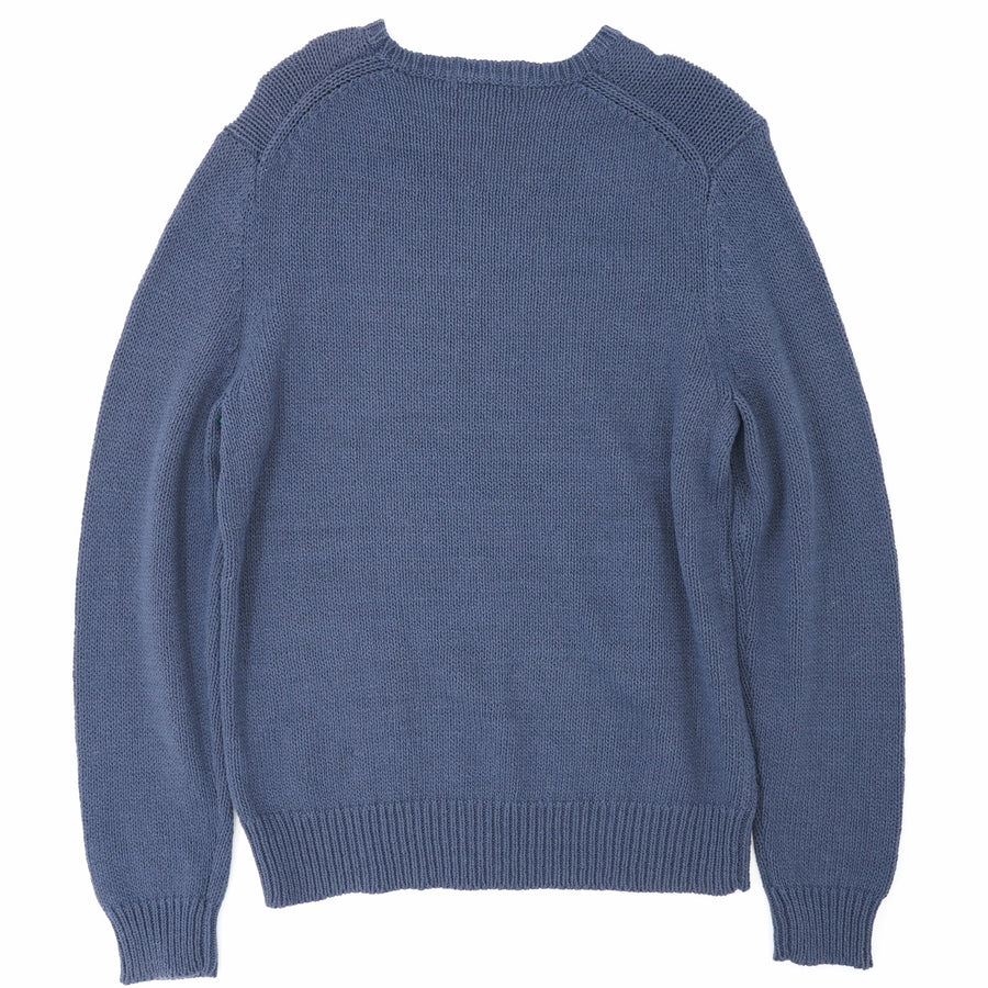 Loose Cable Knit Relaxed Crew Neck Sweater