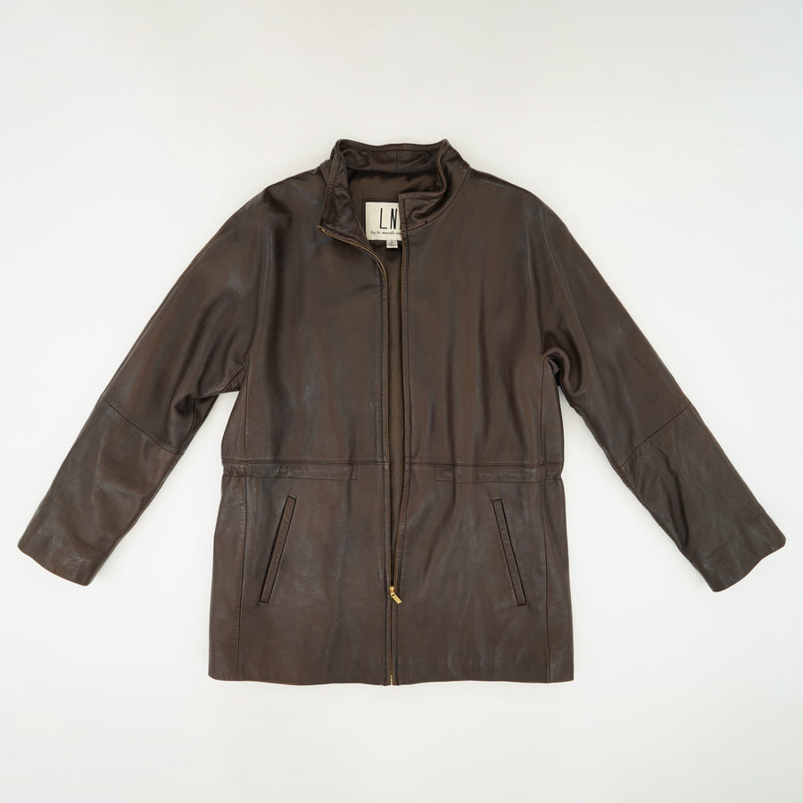 Brown leather Jacket Size S