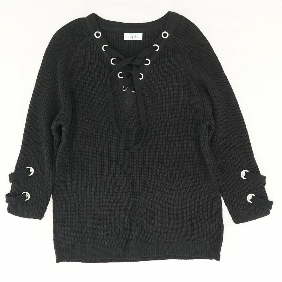Taylor Lace-Up Sweater - Size OS