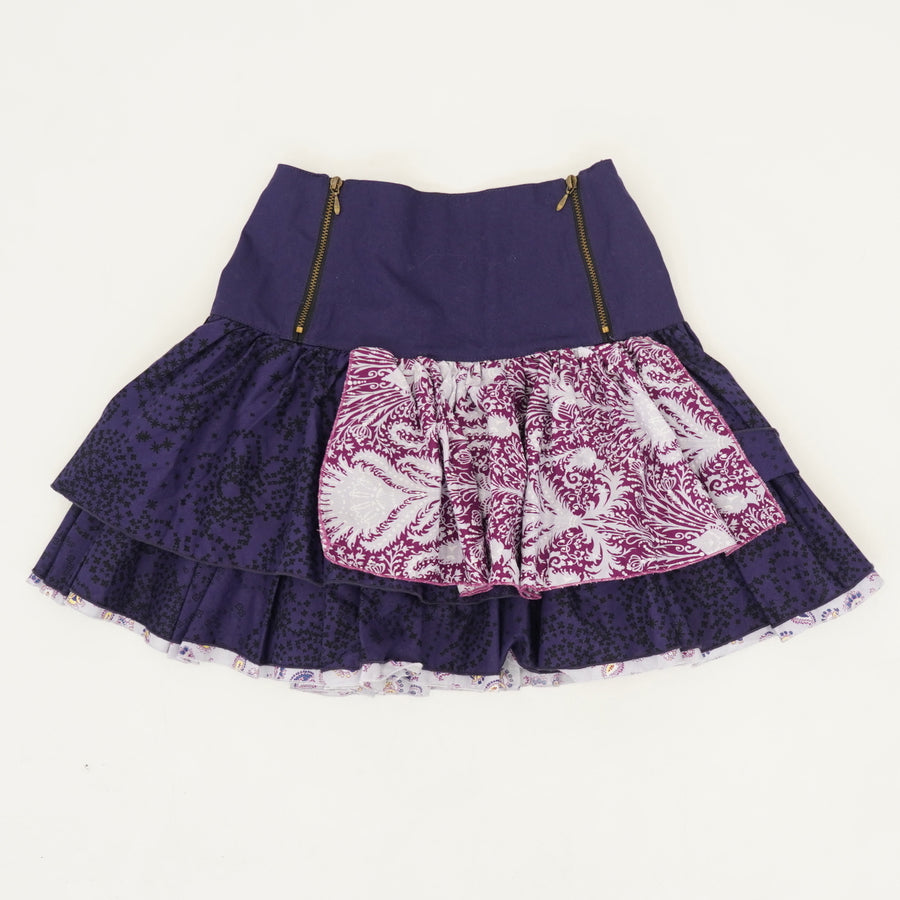Purple Tiered Skirt - Size 12