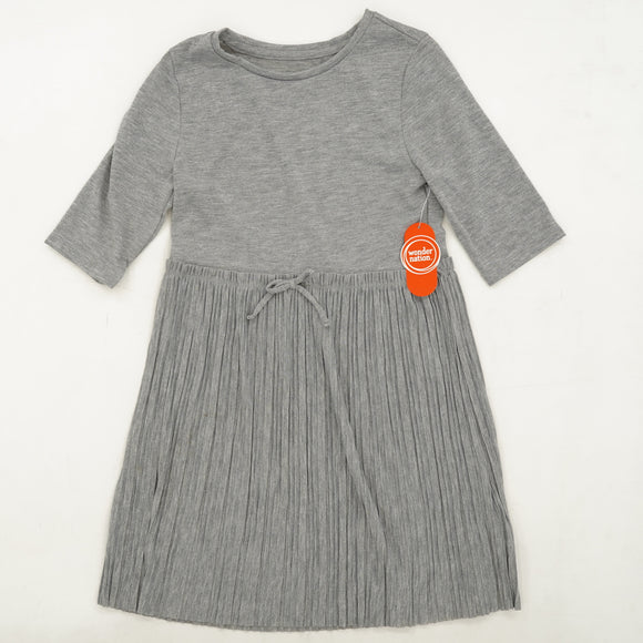Gray Pleated Skirt Dress Size 7-8