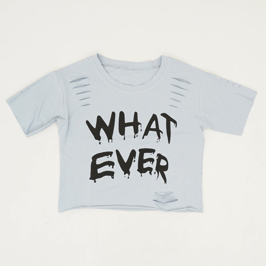 Whatever Distressed Crop Top - Size S