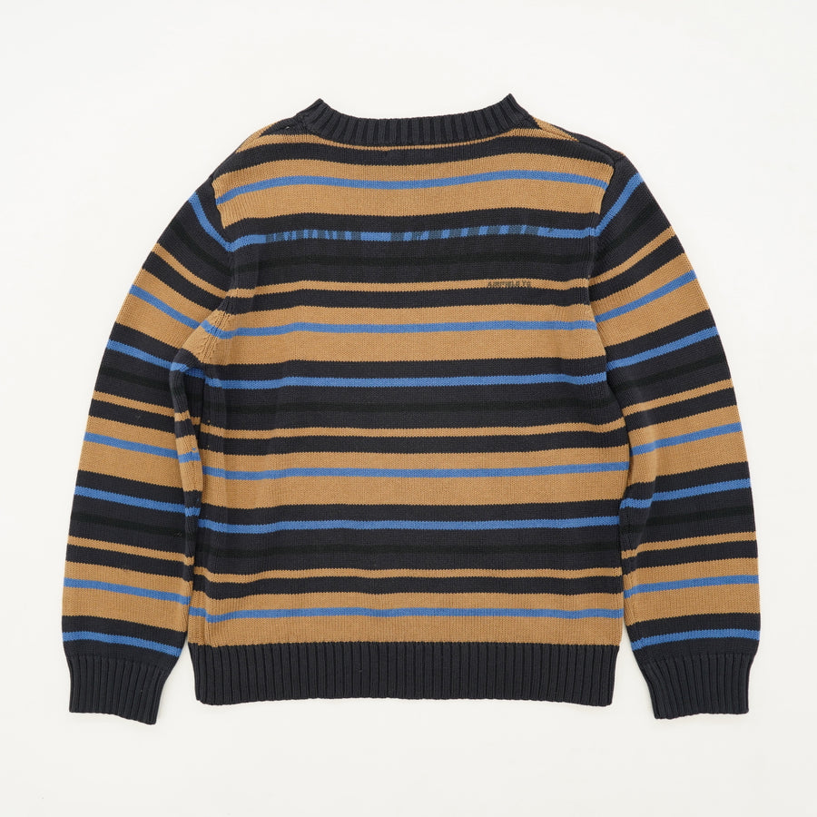 Brown And Blue Striped Sweater Size 12
