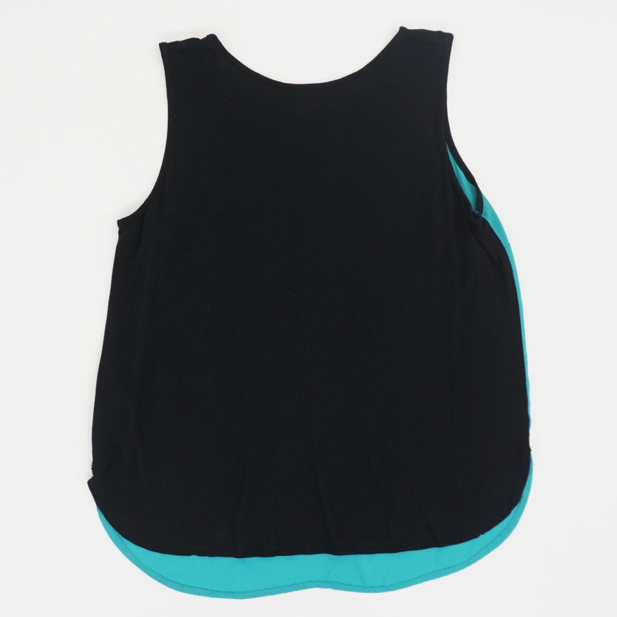 Teal Zip Front Tank - Size L