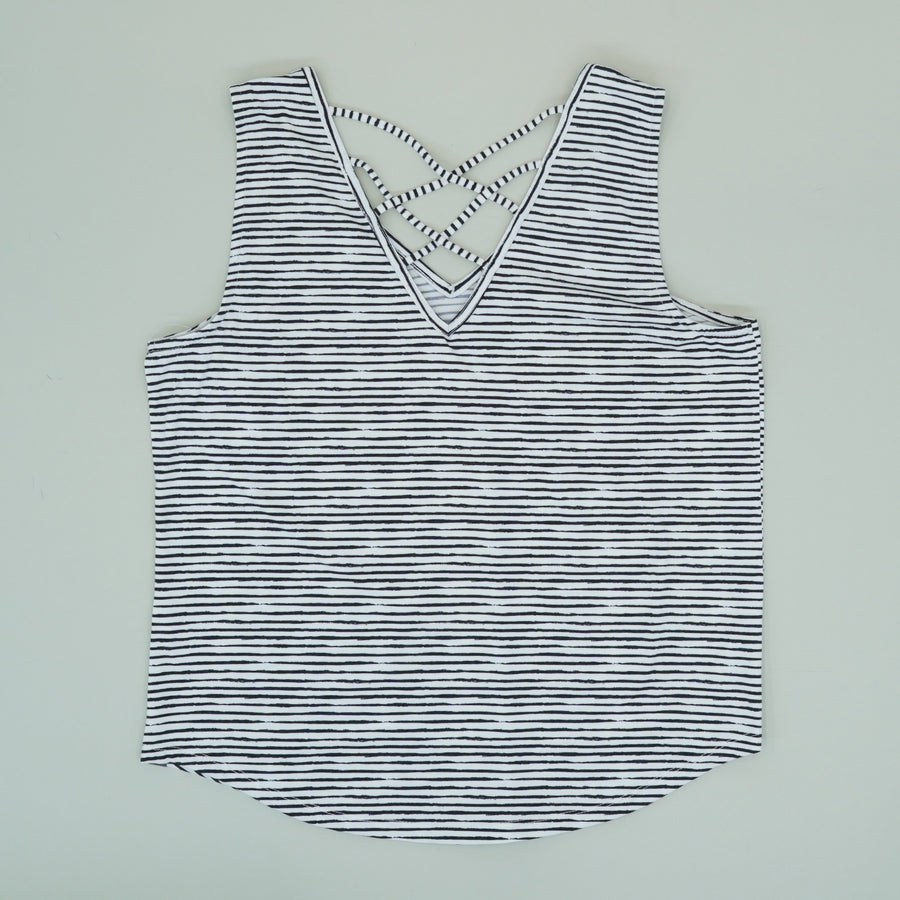 Yasumi Tank In Painted Stripe - Size XL