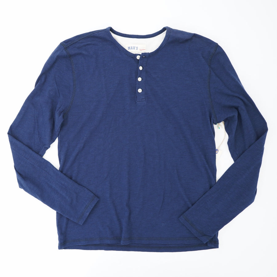 Quarter Button Long Sleeve Size L