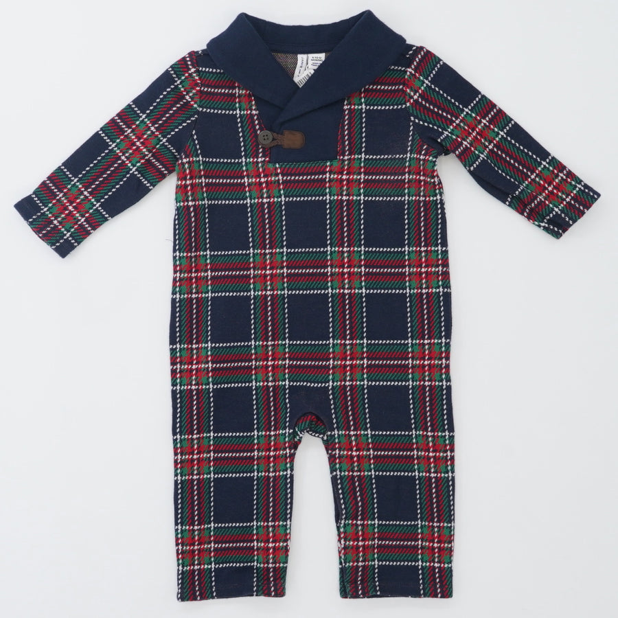 Plaid Long Sleeve Jumper Size 6/12 Months