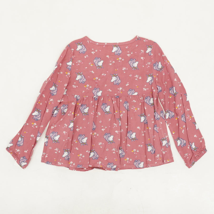 Pink Graphic Blouse Size 2T, 4T