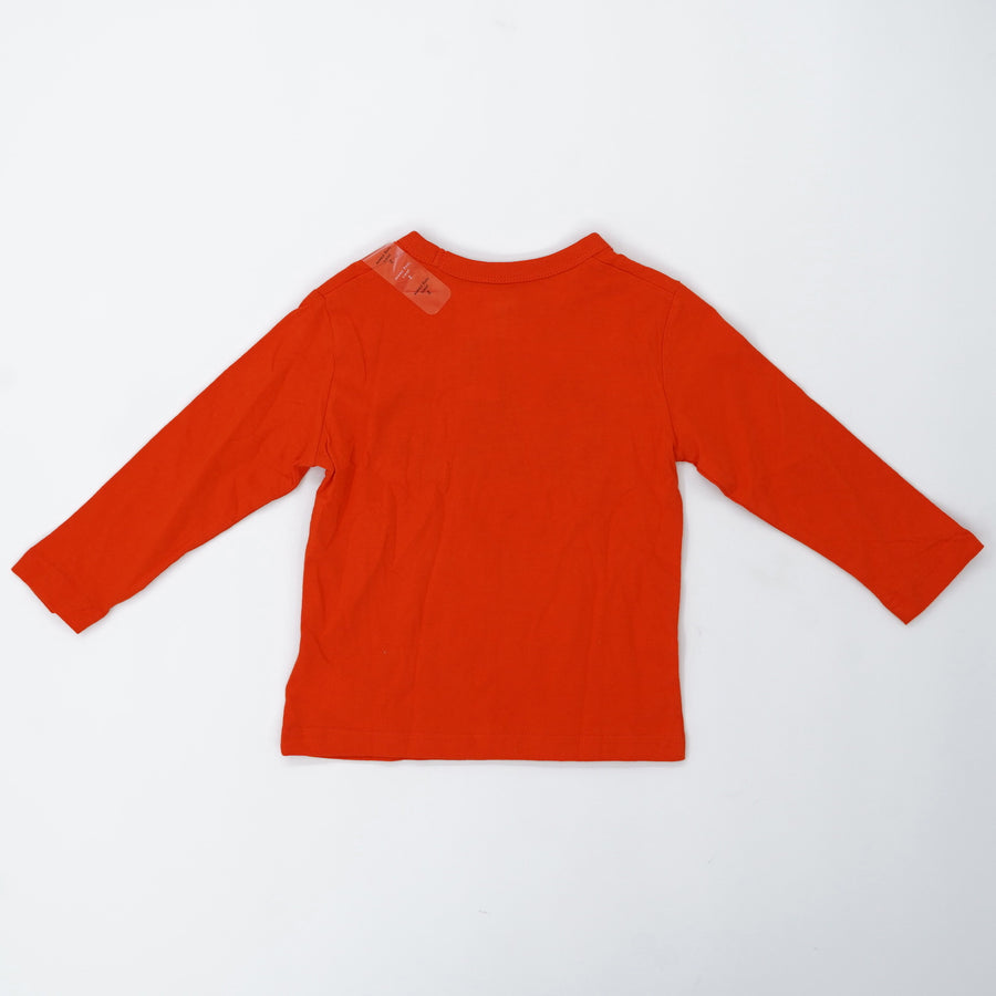 Orange Graphic Long Sleeve Tee - Size 2T