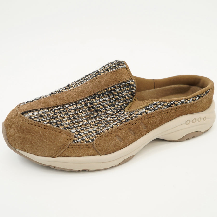 Brown Mesh Travel Time Clogs