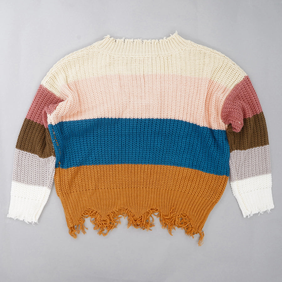 Multicolor Striped Sweater Size M
