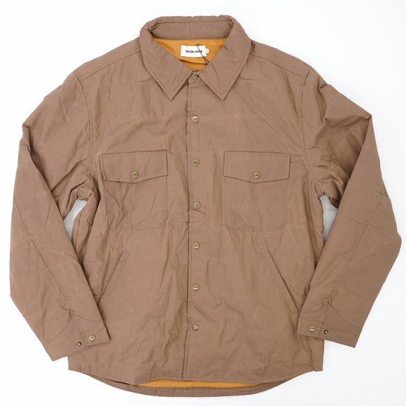 The Garrison Shirt Jacket In British Khaki Dry Wax Size L