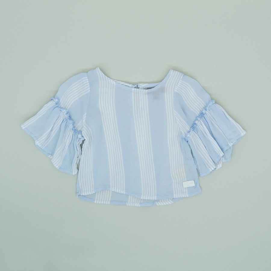Kentucky Blue Stripe Blouse - Size 12M