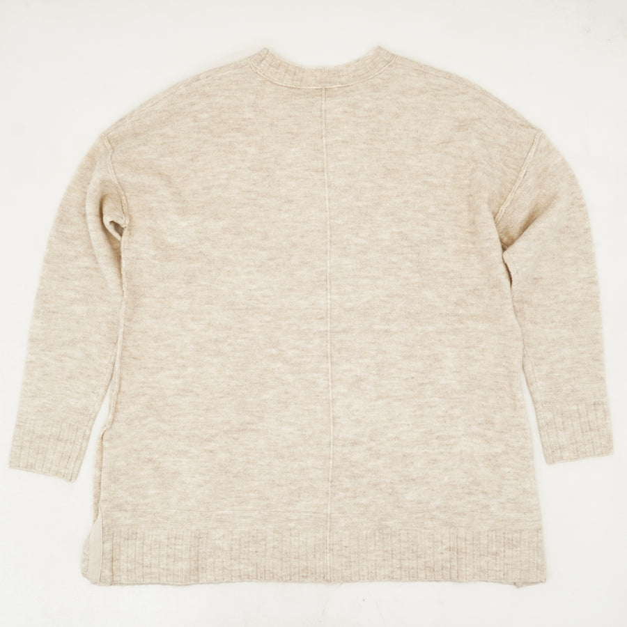 Button Detail Crewneck Sweater - Size XL